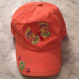 Adorable butterfly embroidered ball cap